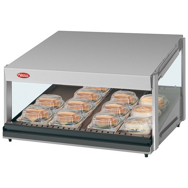 "Hatco GRSDS-24 Glo-Ray 24"" Slanted Single Shelf Merchandiser - 120V"