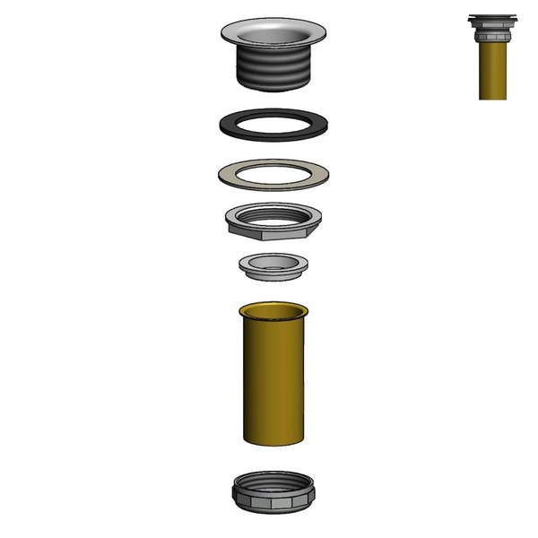 T&S 017225-45 Dipper Well Drain Assembly Kit