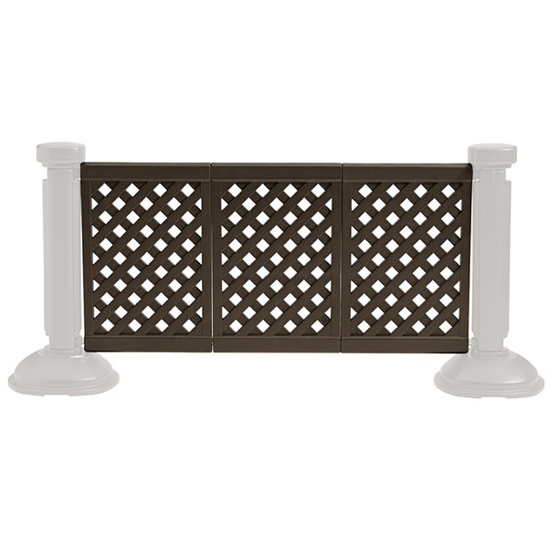 Grosfillex US963423 3 Panel Resin Patio Fence - Brown Main Image 1