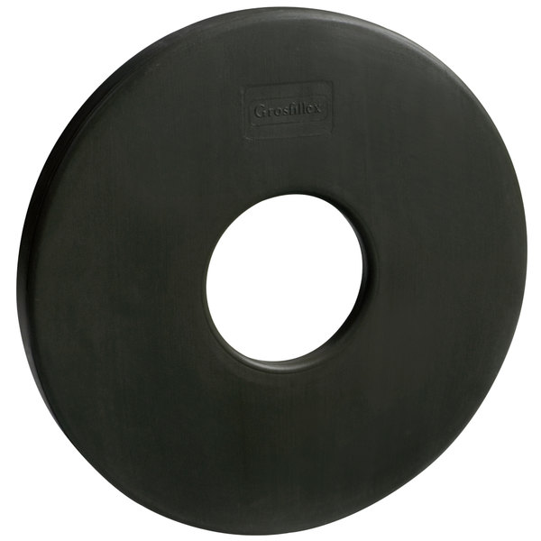 Grosfillex US601617 35 lb. Black Umbrella Base Ring Main Image 1