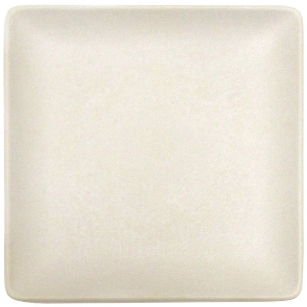 """Elite Global Solutions ECO1111SQ Greenovations 11"""" Papyrus-Colored Square Plate - 6/Case"""
