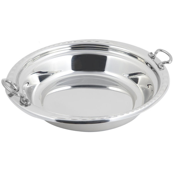"""Bon Chef 5655HRSS 13"""" x 12"""" x 3"""" Stainless Steel Arches Design Casserole Food Pan with Round Stainless Steel Handles"""