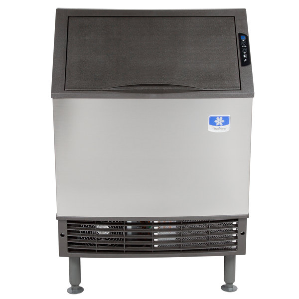 "Manitowoc UY-0240A NEO 26"" Air Cooled Undercounter Half Size Cube Ice Machine with 80 lb. Bin - 208V, 225 lb."