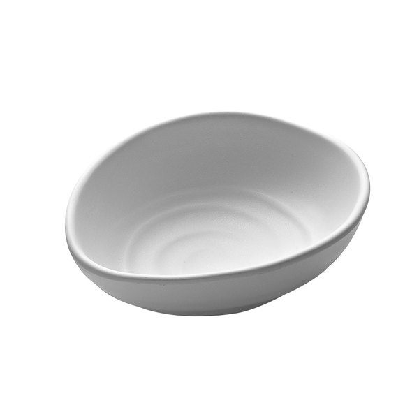 Elite Global Solutions JW1407 Zen 9 oz. White Oval Bowl - 6/Case