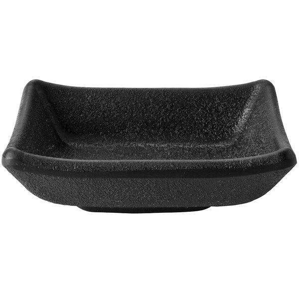 Elite Global Solutions JWT57 Zen 1.7 oz. Black Rectangular Kozara Black Sauce Cup - 6/Case