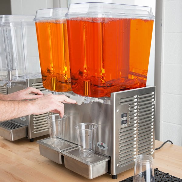 5-Gallon Plastic//Stainless Steel Finish Grindmaster-Cecilware D25-4 Crathco Classic Bubblers Premix Cold Beverage Dispensers