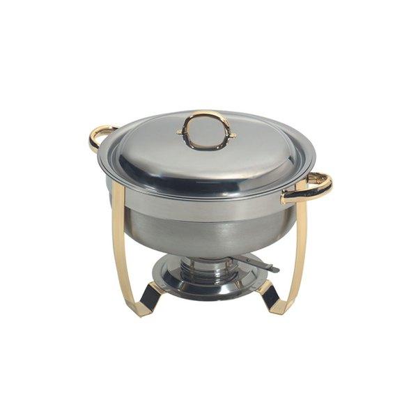 American Metalcraft ALLEGR50 5.25 Qt. Allegro Gold Trim Round Chafer