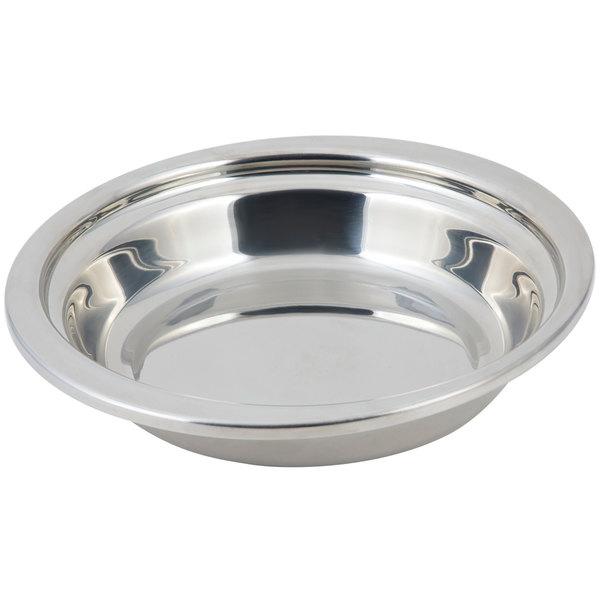 "Bon Chef 5255 13"" x 12"" x 3"" Stainless Steel 2.5 Qt. Plain Design Casserole Food Pan"