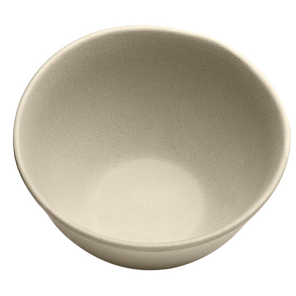 Elite Global Solutions ECO52 Greenovations 18 oz. Papyrus-Colored Round Bowl - 6/Case