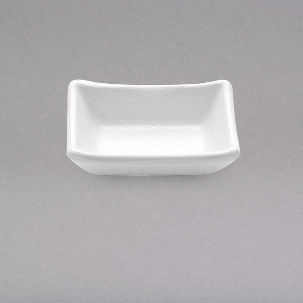 Elite Global Solutions JWT57 Zen 1.7 oz. White Rectangular Kozara Sauce Cup - 6/Case