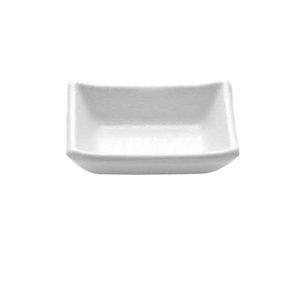 Elite Global Solutions JWT57 Zen 1.7 oz. White Rectangular Kozara Sauce Cup