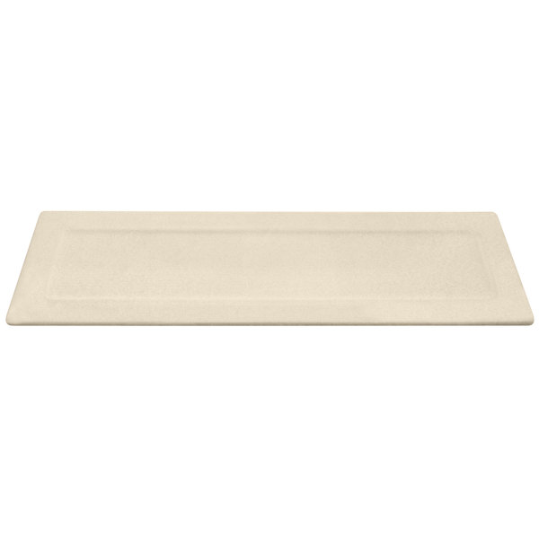 """Elite Global Solutions ECO516 Greenovations Papyrus-Colored 16"""" x 5 1/4"""" Rectangular Platter"""