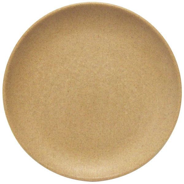 "Elite Global Solutions ECO99R Greenovations 9"" Paper Bag-Colored Round Plate - 6/Case"