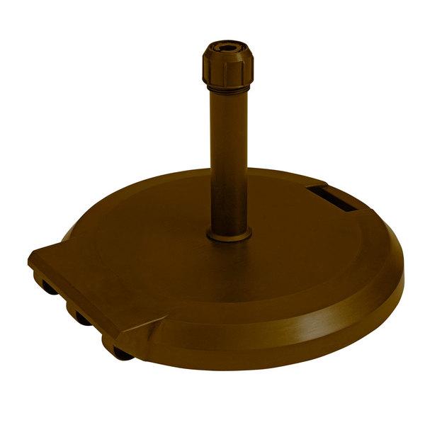 Grosfillex US608437 84 lb. Bronze Freestanding Umbrella Base with Wheels