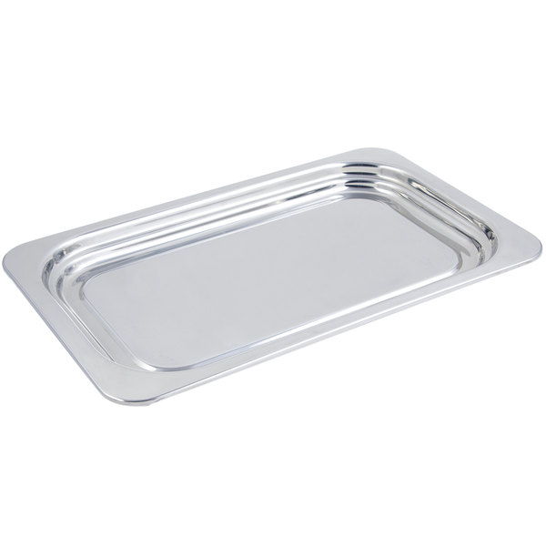 "Bon Chef 5207 22"" x 14"" x 1"" Stainless Steel 4.5 Qt. Full Size Rectangular Plain Design Food Pan"