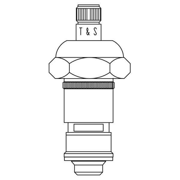 T&S 089A Left to Close Ceramic Cartridge for Non-Escutcheon Faucets