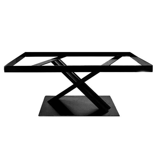 """Elite Global Solutions 9"""" PC21179 Rectangular Black Metal Stand for M2415 Melamine Shelves"""