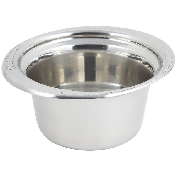 "Bon Chef 5450 10"" x 9"" x 5"" Stainless Steel 2 Qt. Casserole Laurel Design Food Pan"