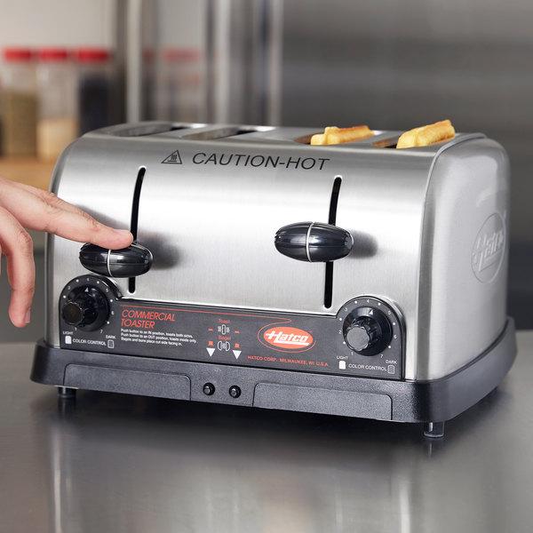 "Hatco TPT-208 4 Slice Commercial Toaster - 1 1/4"" Slots, 208V"