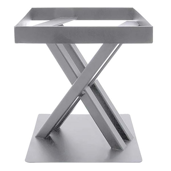 "Elite Global Solutions 9"" PC89 Rectangular Satin Nickel Metal Stand for M10 Melamine Shelves"