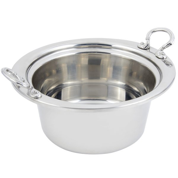 """Bon Chef 5250HRSS 10"""" x 9"""" x 5"""" Stainless Steel 2 Qt. Plain Design Casserole Food Pan with Round Stainless Steel Handles"""