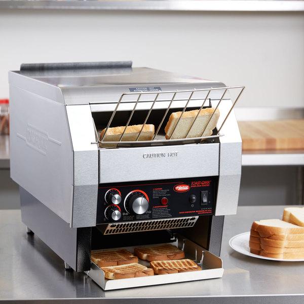 "Hatco TQ-800HBA Toast Qwik One Side Conveyor Toaster - 3"" Opening, 208V"