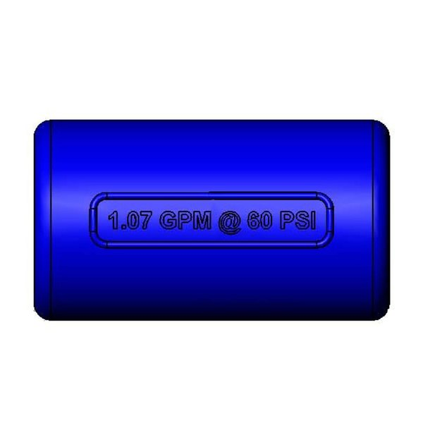 T&S 018293-45 Blue 1.07 GPM Shield Guard for EB-0107-J Spray Valves Main Image 1