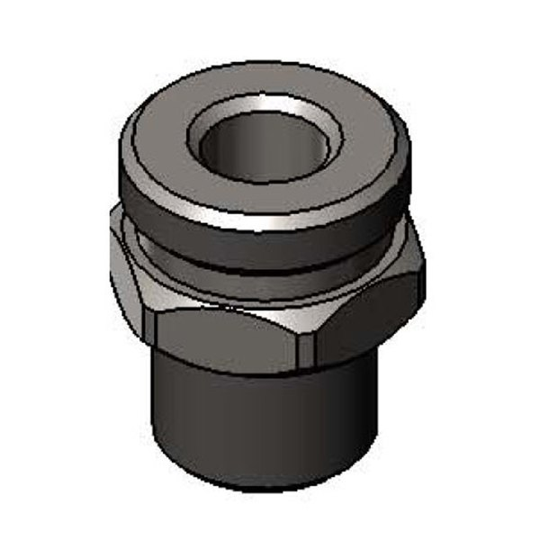 """T&S 017960-25 Chrome Plated Adapter with 3/8"""" NPT and 7/8-20 UN Male Connections"""
