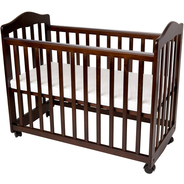 """L.A. Baby CW-35-CH 37"""" x 19 1/2"""" x 26"""" Cherry Colored Original Bedside Manor Cradle Main Image 1"""