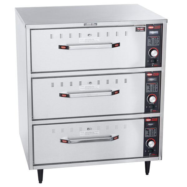 Hatco HDW-3 Freestanding Three Drawer Warmer - 120V, 1350W Main Image 1