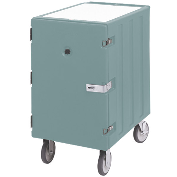 """Cambro 1826LBCSP401 Camcart Slate Blue Single Compartment Mobile Cart for 18"""" x 26"""" Food Storage Boxes - With Security Package Main Image 1"""