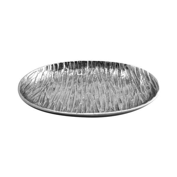 "Elite Global Solutions ALZ149 Savanna Zebra-Textured 14 1/8"" x 9 3/4"" Oval Plate"