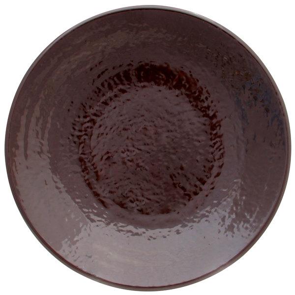 "Elite Global Solutions D638RR Pebble Creek Aubergine-Colored 6 3/8"" Round Plate - 6/Case"