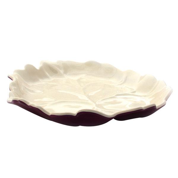 "Elite Global Solutions M1110 Country Kitchen Grape 11"" Aspen Leaf Melamine Platter"