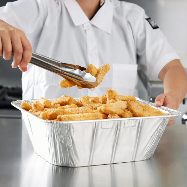 """Durable Packaging 1/2 Size Foil 4"""" Extra Deep Steam Table Pan - 20/Pack"""