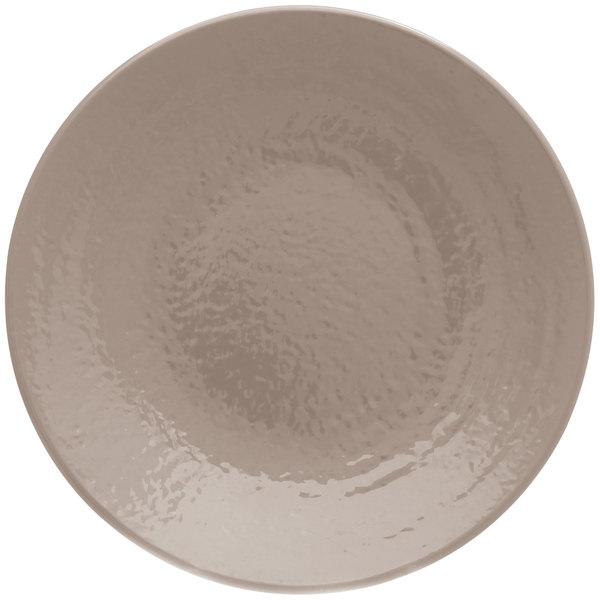 "Elite Global Solutions D638RR Pebble Creek Mushroom-Colored 6 3/8"" Round Plate - 6/Case"