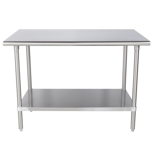 Advance Tabco MS X Gauge Stainless Steel Commercial - 36 x 48 stainless steel table
