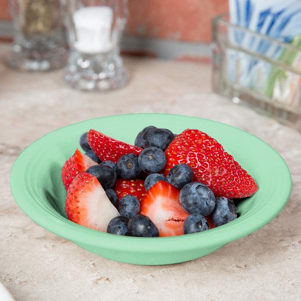 Tuxton CTD-052 Concentrix 4.5 oz. Cilantro China Fruit / Monkey Dish - 24/Case
