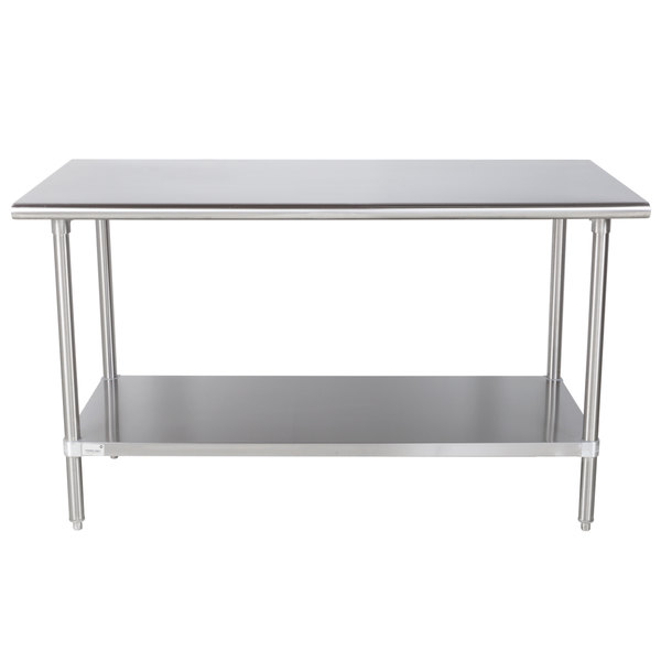 Advance Tabco MS X Gauge Stainless Steel Commercial - 16 gauge stainless steel work table