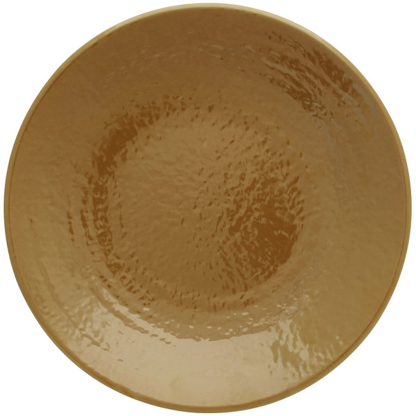 """Elite Global Solutions D117RR Pebble Creek Tapenade-Colored 11 7/8"""" Round Plate - 6/Case"""