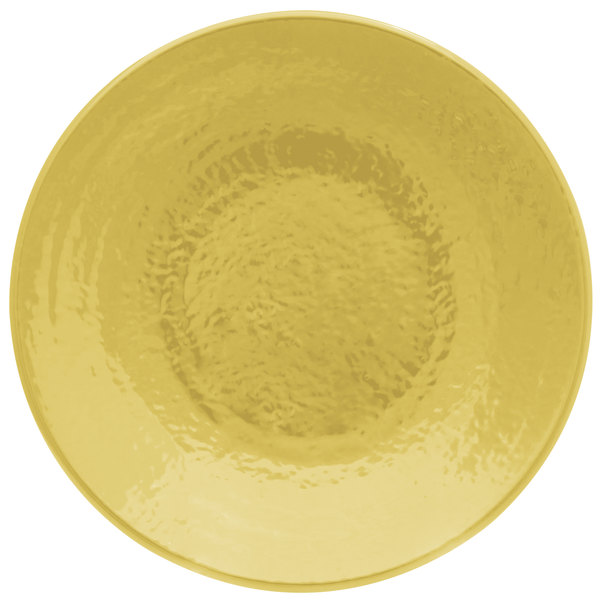 """Elite Global Solutions D638RR Pebble Creek Olive Oil-Colored 6 3/8"""" Round Plate"""
