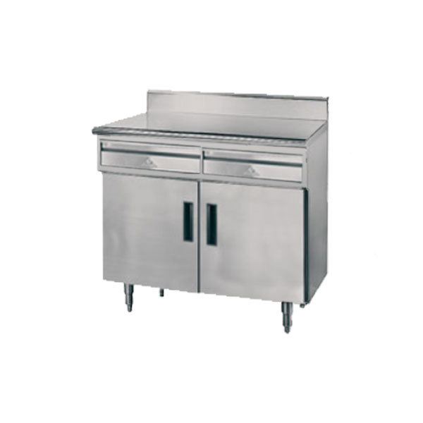Advance Tabco HDRC X Gauge Enclosed Base Stainless - Enclosed stainless steel work table