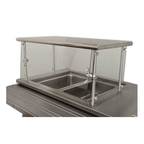 """Advance Tabco Sleek Shield NSGC-15-96 Cafeteria Food Shield with Stainless Steel Shelf - 15"""" x 96"""" x 18"""""""