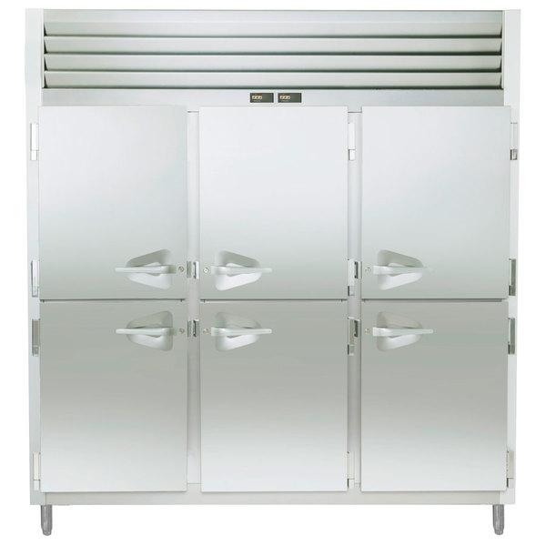 Traulsen ADT332WUT-HHS 69.3 Cu. Ft. Three Section Half Door Reach In Refrigerator / Freezer - Specification Line Main Image 1