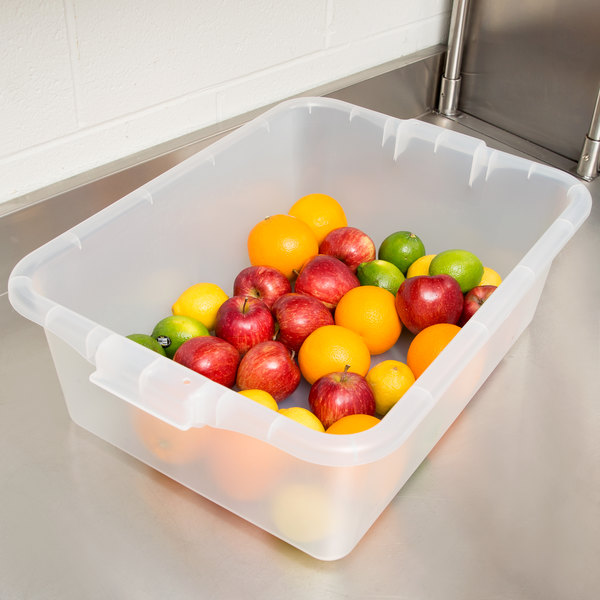 "Vollrath 1527-C13 Food Storage Box - Traex Color-Mate Clear 20"" x 15"" x 7"""