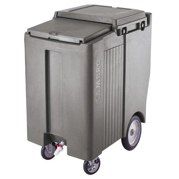 Cambro ICS200TB191 SlidingLid™ Granite Gray Portable Ice Bin - 200 lb. Capacity Tall Model