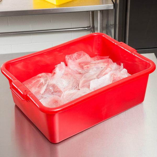 "Vollrath 1527-C02 Food Storage Box - Traex® Color-Mate Red 20"" x 15"" x 7"""