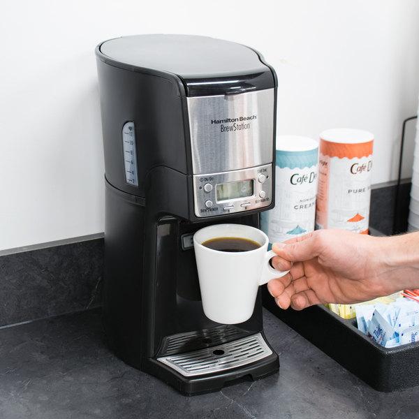 Hamilton Beach 48464 BrewStation Summit Black Single Serving 12 Cup Coffee Maker with Auto Shut Off