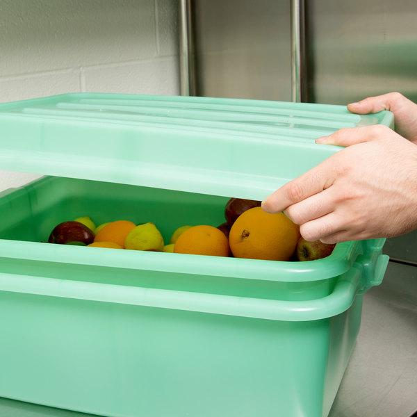 "Vollrath 1500-C19 Snap-On Food Storage Box Lid - Traex® Color-Mate Green 20"" x 15"" x 2 1/2"""
