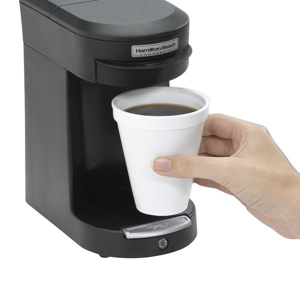 Hamilton Beach HDC200B Black Single Serving Pod Coffee Maker - 120V, 500W